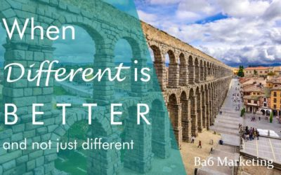 When Different is Better…and not just different