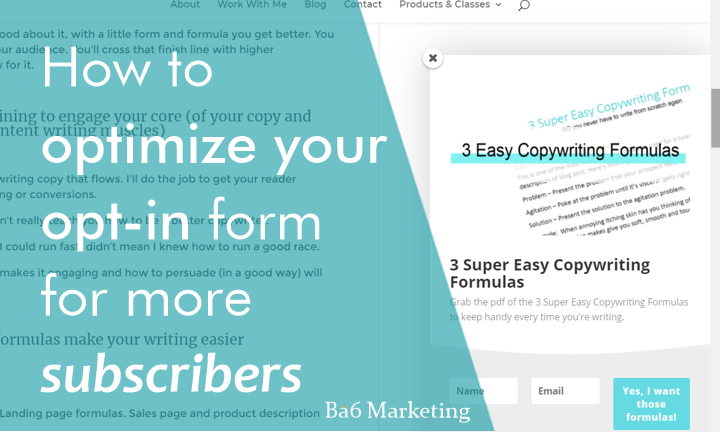 How to optimize your opt-in form for more subscribers