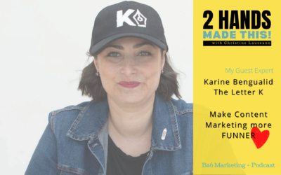 Episode 11 – Making Content Marketing more FUNNER with Karine Bengualid of Brought To You By The Letter K